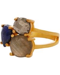 Carousel Jewels - Intricate Lapis And Labradorite Cocktail Ring - Lyst