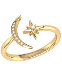 LMJ Starlit Ring In 14 Kt Yellow Gold Vermeil On Sterling Silver - Metallic