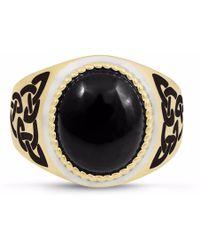LMJ Black Onyx Stone Ring