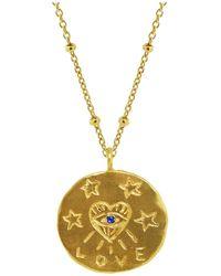 Yvonne Henderson Jewellery Love Talisman Evil Eye Necklace - Metallic