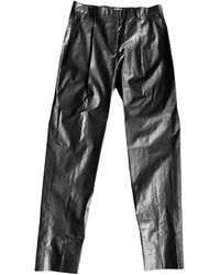 ARSHYS Charcoal Slim Trousers - Black