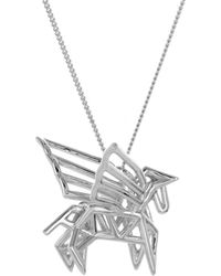 Origami Jewellery | Frame Pegasus Necklace Sterling Silver | Lyst