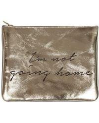 Sarah Baily - Mini Clutch Home Gold - Lyst