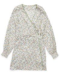 Morgan Lane Larsen Robe In Confetti Floral - Multicolour