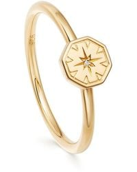 Astley Clarke Mini Celestial Dial Ring - Metallic
