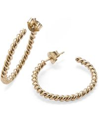 ISABEL LENNSE - S Thin Twisted Gold Loops - Lyst