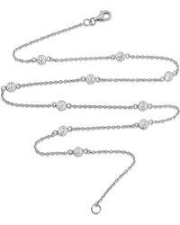"Auree - Sofia 18"" Sterling Silver & Cubic Zirconia Short Necklace - Lyst"
