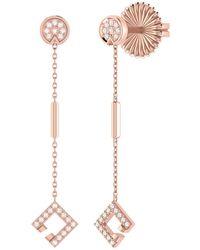 LMJ - Straight Lace Street Earrings In 14 Kt Rose Gold Vermeil On Sterling Silver - Lyst