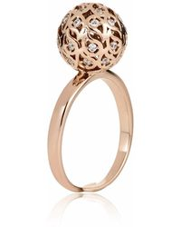Sonal Bhaskaran - Svar Rose Gold Sphere Ring Clear Cz - Lyst