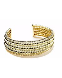 Agnes De Verneuil - Gold Seven-band Cuff Bracelet Mixed Pearls - Lyst