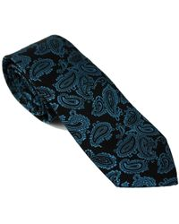 Lords of Harlech | Paisley Tie In Teal & Charcoal | Lyst