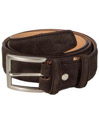 40 Colori Dark Brown Trento Leather Belt