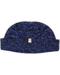 40 Colori - Navy Melange Wool & Cashmere Fisherman Beanie - Lyst