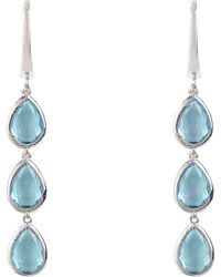 LÁTELITA London - Sorrento Triple Drop Earring Silver Blue Topaz - Lyst