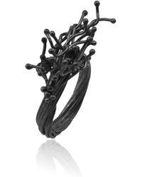 Karolina Bik Jewellery Unique Kulfik Ring Black