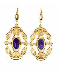 Neola - Norresa Gold Earrings With Lapis Lazuli - Lyst