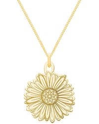 CarterGore - Small Gold Daisy Flower Pendant Necklace - Lyst
