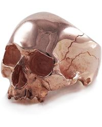Frederick Grove Rose Gold Skull Ring - Multicolor