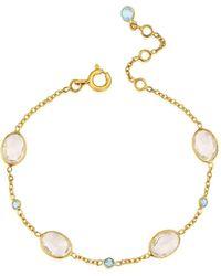 Auree - Cannes Crystal & 18ct Gold Vermeil Bracelet - Lyst