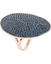 LÁTELITA London - St Tropez Ring Rosegold Sapphire Cz - Lyst