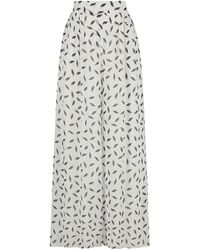 Nocturne Pleasted High-waisted Pants - White