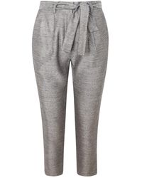 Haris Cotton Linen-blend Tapered Trousers - Grey