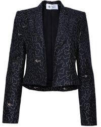 The Bee's Sneeze Cropped Tuxedo Blazer - Black