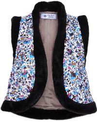 The Bee's Sneeze - Quilted Faux-fur Vest Animal Print - Lyst