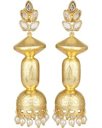 Carousel Jewels - Traditional Crystal & Pearls Earrings - Lyst