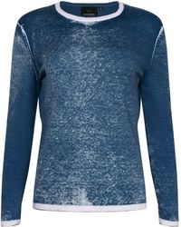 NY CHARISMA - Blue Cotton Hand Print Pullover - Lyst