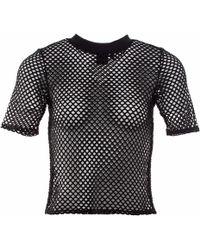OKAYLA Black Mesh T-shirt