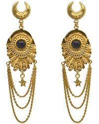 Annabelle Lucilla Jewellery Secrets Of The Seas Chain Fan Studs - Metallic