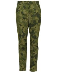 "lords of harlech - Jack Chino In Olive Houndstooth Camo 30"" Inseam - Lyst"