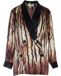 Roses Are Red - Silk Blazer In Animal Print - Lyst
