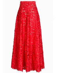 Jelena Bin Drai - Floral Laser Cut Skirt - Lyst