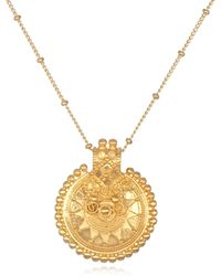 Satya Jewelry - Gold Mandala Necklace Long - Lyst