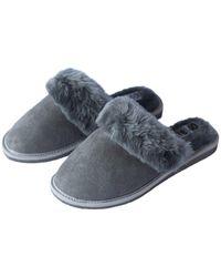 ONAIE Grey Sheepskin Slippers