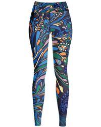 Jessie Zhao New York High Waist Yoga Leggings In Sprinkle Night - Black