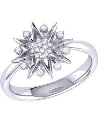 LMJ Supernova Ring In Sterling Silver - Metallic