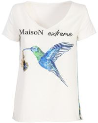 The Extreme Collection Blue Bird T-shirt - Multicolour