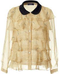 Supersweet x Moumi - Pearldrop Frilly Shirt - Lyst