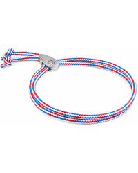 Anchor & Crew - Project-rwb Red White & Blue Pembroke Silver And Rope Bracelet - Lyst