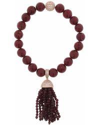 Cosanuova Red Jade Tassel Bracelet