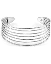 Anchor & Crew Bondi Midi Surf Silver Bangle - Metallic
