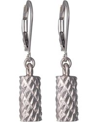 Edge Only - Diamond Cut Cylinder Drop Earrings In Gold - Lyst