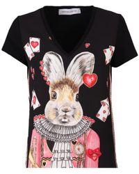 The Extreme Collection Black Nicoletta Rabbit T-shirt