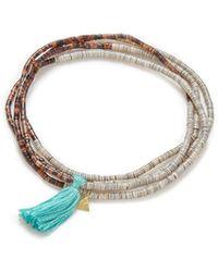Yucama - Pulo Tassel Bracelet Aqua - Lyst