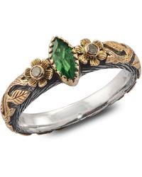 Emma Chapman Jewels Madison Tsavorite & Diamond Ring - Green