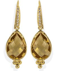 Vintouch Italy - Venus Citrine Drop Earrings - Lyst