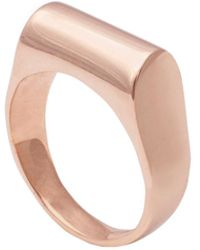 Edge Only - High Top Ring In 14ct Gold - Lyst